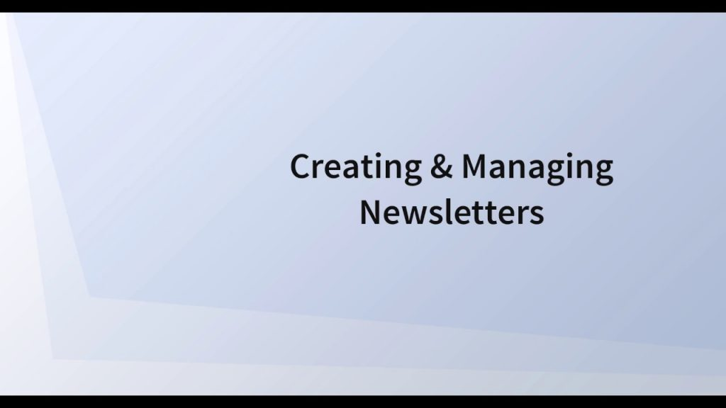 Newsletters 6