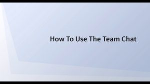 Using Team Chat in SWELLEnterprise